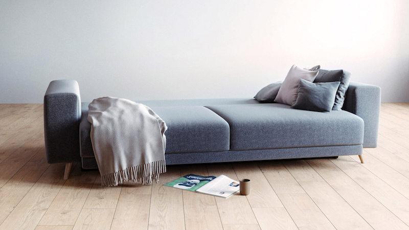 sofa bed in anthracite in Scandinavian design
