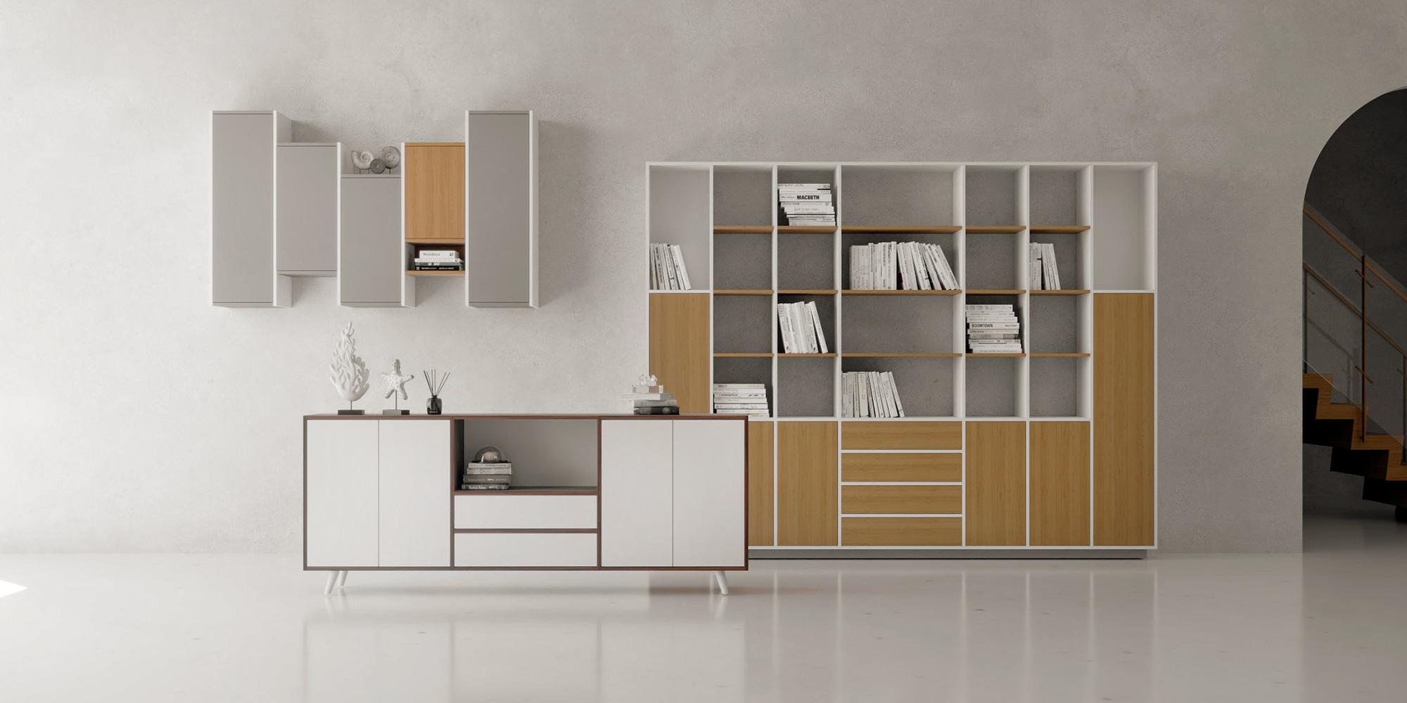 sideboard, hanging shelf and wall shelf