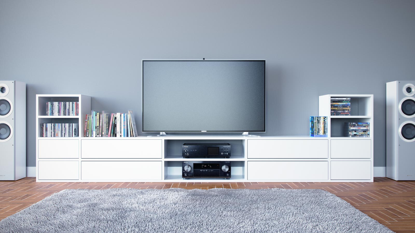 meuble t l scandinave cr er armoires par mycs. Black Bedroom Furniture Sets. Home Design Ideas